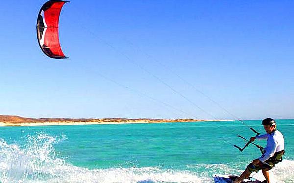 Kite Surfing at Kalpitiya Peninsula